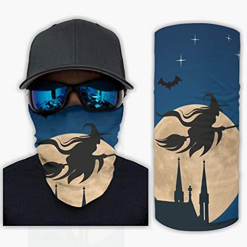 Bruja Noche mágica bufanda bandanas para las mujeres hombres pulsera cuello polaina al aire libre handwear para bicicleta resistente al viento diadema decoraciones blanco onesize