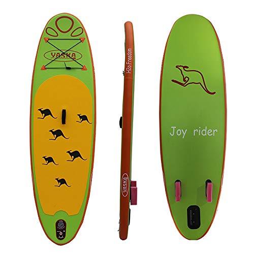 Tabla Hinchable Paddle Surf Con la juventud Permanente Junta inflable Junta canguro Patrón 270x76x10cm verde for mantener el equilibrio Excelente estabilidad ( Color : Verde , Size : 270*76*10cm )