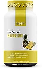Bromelain – High Strength Bromelain Supplement – Antioxidant, Inflammation, Digestion, Immune System, Respiratory Health, Heart Health, Joint Health, Bruises, Energy and Wellbeing – Vegan Friendly