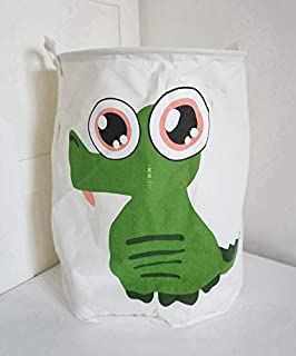 MJY Panier à linge lavable, petit animal, tissu Oxford, rangement imperméable, jouet de toilette, alphabet anglais gris,Di...