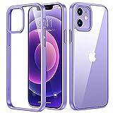 TORRAS Diamond Series Hülle für iPhone 12 & 12 Pro Vergilbungsfrei Transparent Starke Stoßfestigkeit Unzerstörbare Schutzhülle Dünn Kratzfest - Violett