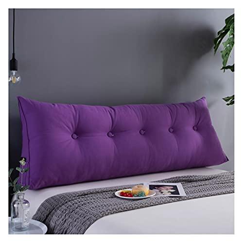 ZSFBIAO Almohada Posicionamiento Soporte cojín Triangular Cabeza de Cama Cama Respaldo Simple y Moderno para Cama, sofá, Tatami (Size:180x50x20cm(6 Buttons),Color:Púrpura)