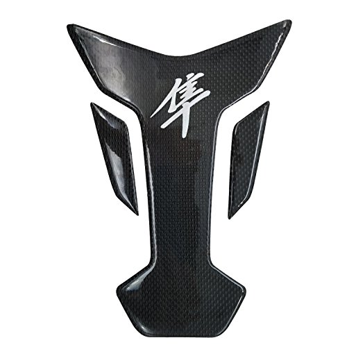 8 inches Real Carbon Fiber 3D Chrome Sticker Vinyl Decal Emblem Protection Gas Tank Pad For SUZUKI HAYABUSA All Models