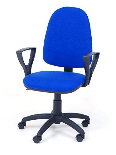 Europrimo Poltrona Sedia da Ufficio Girevole per scrivania con braccioli Tessuto Cotone Arancio Arancione