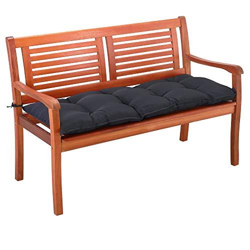 Detex Cojín para Banco de jardín Gris 110x45x8cm Almohadilla para sillón Doble Viscoelástico Hidrófugo