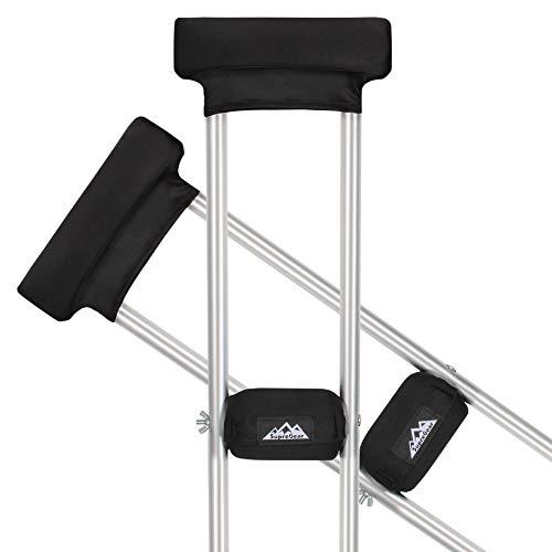 supregear Almohadillas para Muletas, 4pcs Underarm Universal Crutch Pads y Combo de Empuñaduras, Lavable Moisture Wicking Funda Muletas Cojín de Espuma Suave Accesorios Muletas para Adultos, Niños ⭐