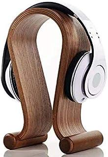 SAMDI Walnut Wood Wooden Headset Stand Holder Headphone Display Practical Hanger for Earphone