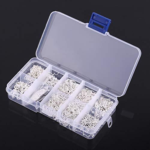 Kit de Inicio de fabricación de Joyas Práctico y Duradero Gancho para Pendientes Cabeza de Bola Aguja Cadena Kit de Ganchos para Pendientes DIY