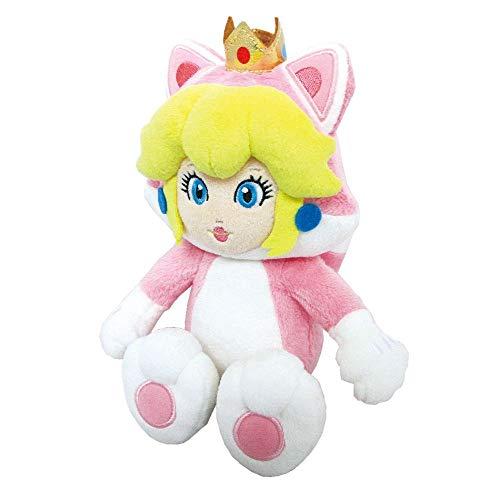 Sanei Super Mario 3D World Neko Katze Prinzessin Peach 22,9cm Plüsch Puppe