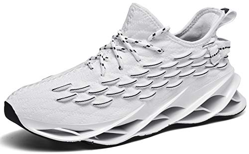 Ezkrwxn Running Walking Shoes for Men mesh Breathable Comfort Fashion Sport Athletic Sneakers Man Runner Jogging Shoes Casual Tennis Trainers All White Size 9.5