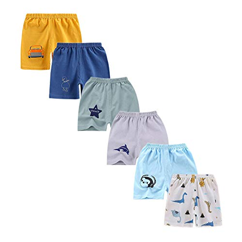 sharely sheep SharelySheep Baby Boys Elastic Waist Dinosaur Cotton Shorts Toddler Kids Pants, T9, 6-9 Months