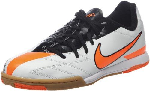 Nike Jr T90 Shoot Iv Ic Jungen Sportschuhe - Fußball Weiß (Windchill/Total Orange-Black) 27.5 EU