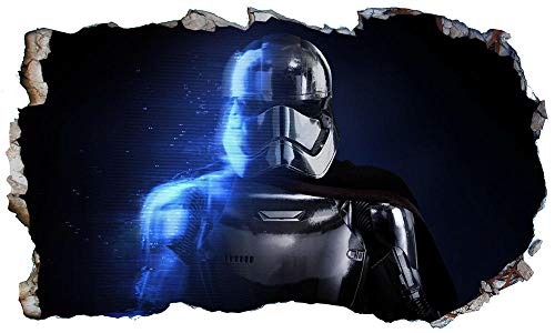 CSCH Pegatinas de pared Star Movie role Phasma 3D Magic Window Wall Smash Wall Art Adhesivo adhesivo