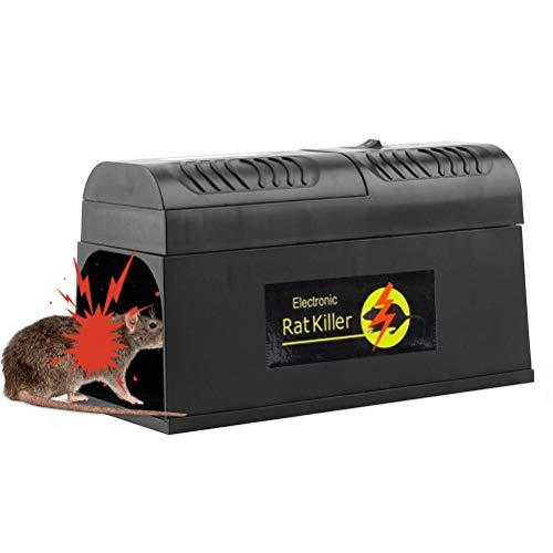 BovoYa Elektronische Rattenfalle, elektrischer Mäusekiller Professional Mausefalle, sicherer Weg, der Mäusefallenfallen-Gartenhaus