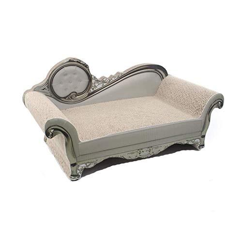 SPLLEADER tiragraffi per gatti – Divano a forma di gatto Lounge letto con tappetino, tiragraffi in cartone ondulato per gatti