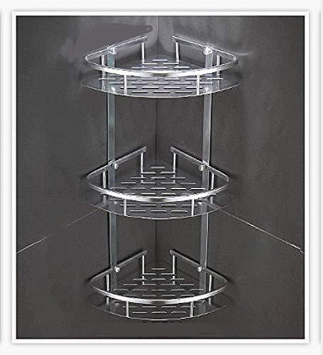 Estante de Ducha de Aluminio antioxidante con voladura de Arena - Estantes de baño Soportes de Pared Perforados Tocador de Inodoro Triangular Estantes de Ducha Baifantastic