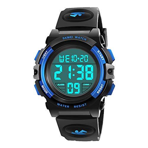 ATOPDREAM Reloj Deportivo para niños al Aire Libre para niños - Reloj analógico con Calendario LED de Alarma a Prueba de Agua 50M