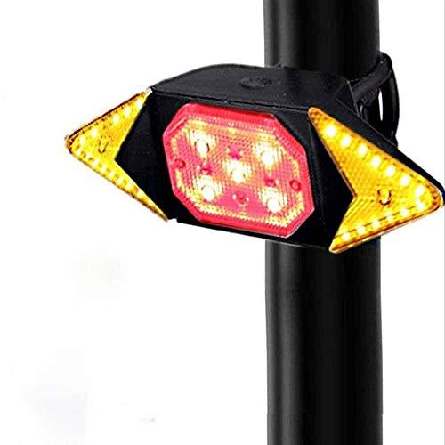 NCRD Bike Taillight, Ultra Bright USB Recargable Cola de la Bicicleta Luz con señales de Giro Control Remoto inalámbrico Seguridad Advertencia Bicicleta Luces traseras