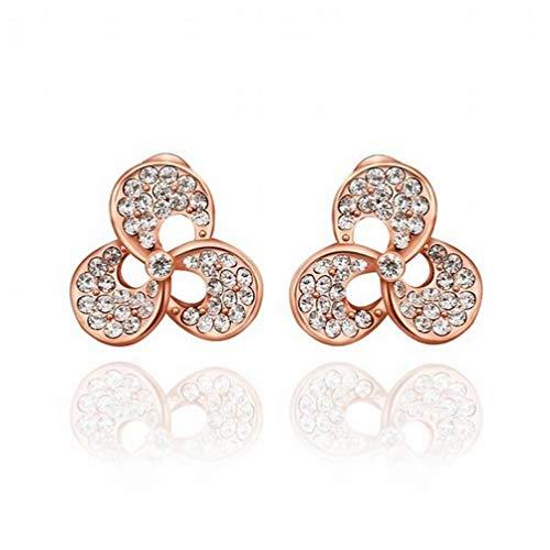 Environmental Whitening Diamond Flower Stud Earrings/Stainless Steel/Anti-allergic/Silver Shine/Diamond/Crystal Element Earrings/Small and Fine,Colour:B Bracelets Earrings Rings Necklaces