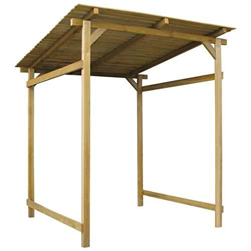 WENXIA - Toldo de jardín impregnado de madera de pino para exteriores con pérgola (170 x 200 x 200 cm)