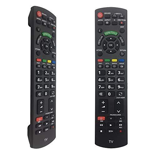 Nuevo Mando Panasonic TV de Repuesto N2QAYB000487 para Mando Panasonic Smart TV N2QAYB000487 N2QAYB000752 - No Setup Needed Mando a Distancia Panasonic
