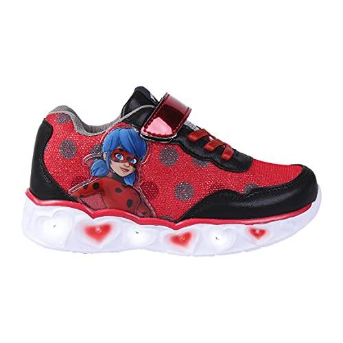 CERDÁ LIFE'S LITTLE MOMENTS, Zapatillas con Luces Niña de Lady Bug-Licencia Oficial Disney Niñas, Azul, 28 EU