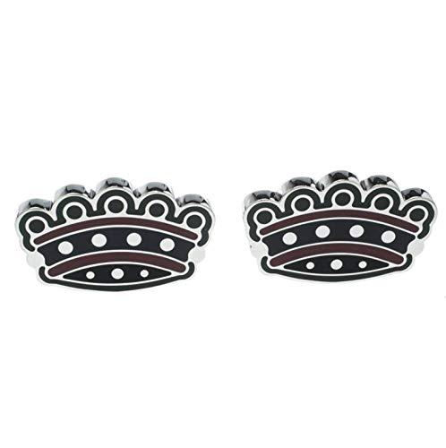 BURBERRY Men's Metallic Novelty Crown Enamel Tone Cufflinks in Gift Box $275