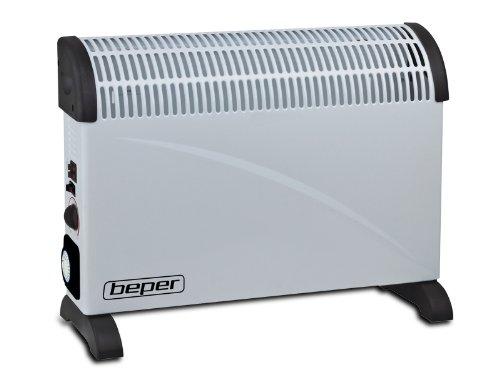 Beper RI.041 RI.041-Termoconvector con Temporizador, Acero, Gris