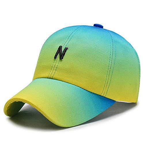 NOBRAND Heppy Gradient Color Cap Peak Cap Sombrero Mujer Primavera y otoño Gorra de béisbol Casual Wild Sun Hat Outdoor Sun Visor Hombre