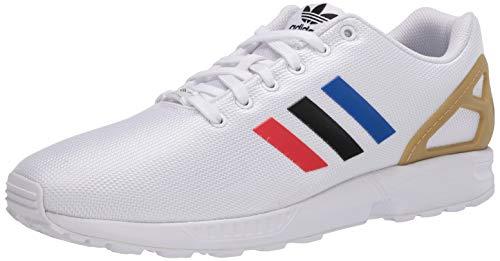 adidas Originals Herren ZX Flux Shoes Sneaker, FTWR White/Core Black/Team Royal Blue, 40 EU