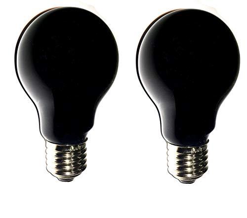 OmniaLaser OL-SimilUV75X2 Lampadina Simil UV, 75 Watt, Attacco E27, Luce Blu, 2 Pezzi, standard