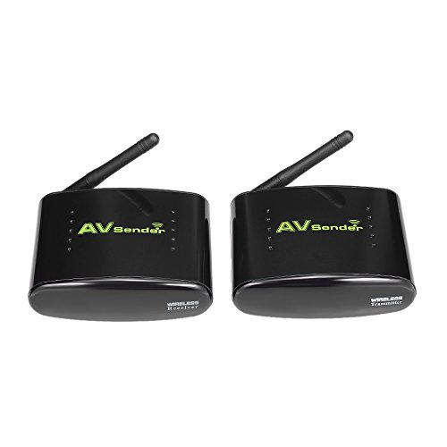 Wireless TV Sender 2.4Ghz – Share Your TV Channels to a Second TV Set wirelessly – AV Audio & Video Sender Transmitter & Receiver