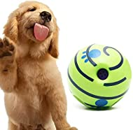 Shoze Pet Dogs Ball Play Training Wobble Wag Giggle Ball Pet Bag Interactive Squeaker Doggies Toy Wi...
