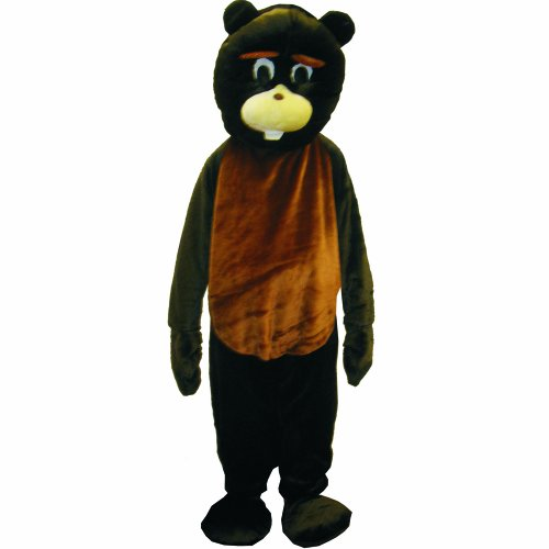 Dress Up America Biber mascotte kostuum set Alter 12-14 (Taille 34-38 Zoll, Höhe 50-57 Zoll) multicolor
