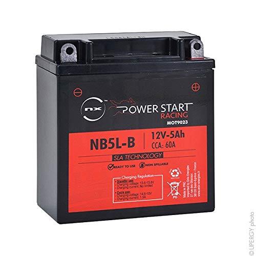 NX - Batteria moto AGM YB5L-B - 12N5-3B 12V 5Ah - 0092M4F180;12N5-3B;12N53B;EB5L