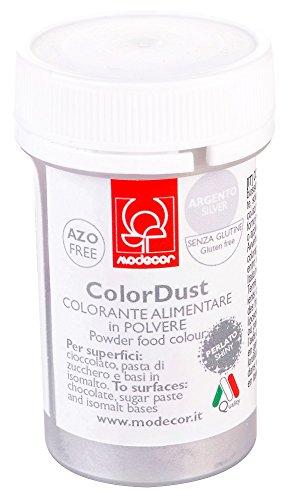 Colorante alimentare in polvere liposolubile 3 gr Modecor - argento