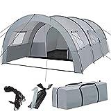 TecTake 403514 Tienda de campaña Familiar para 6 Personas, Tienda Grande para Camping Tipo túnel con mosquiteras en Las Ventanas