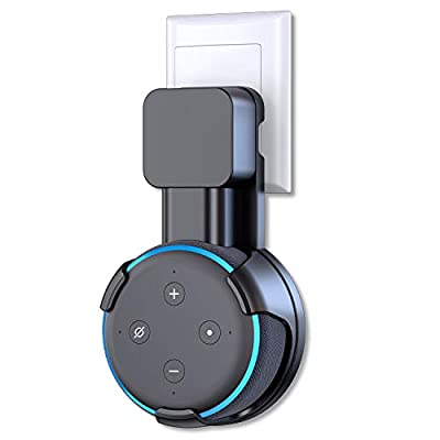 Bovon Upgrade Wall Mount Holder for Echo Dot 3rd Generation, A Space-Saving Solution for Your Smart Home Speakers, Clever Dot Accessories with Cord Arrangement for Kitchen, Bedroom, Bathroom by Bovon