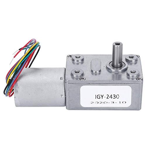 Motor de engranajes, motor de reducción de velocidad, pequeños electrodomésticos de 12V Jgy-2430 para robots(6RPM)