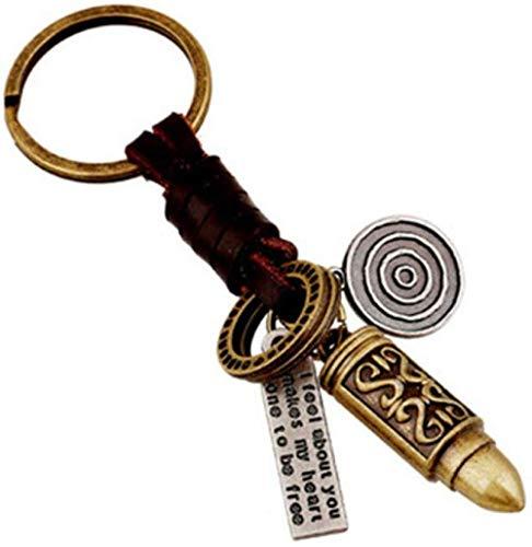 DdA8yonH Porte Clef,Porte-clés Vintage Homme Punk Alliage Bullet Pendentif Porte-clés Sac De Voiture Porte-clés Femmes Unique Creative Accessoires