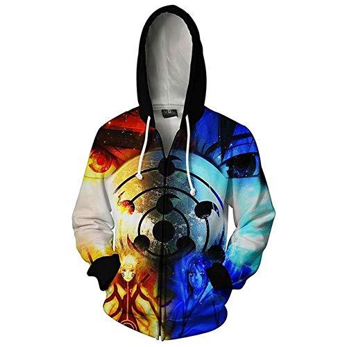XTT Naruto - Sudadera con capucha estampada con capucha, abrigo deportivo de manga larga para niños 23-XXXL