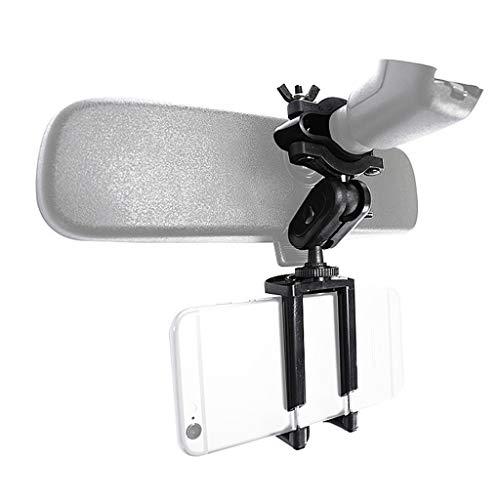 yasu7 Soporte de teléfono de coche Soporte de espejo retrovisor ajustable para teléfono móvil GPS