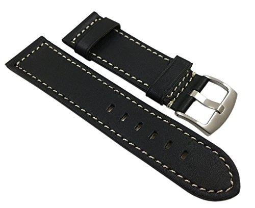 myledershop Weiches Uhrenarmband ,Schwarz,24mm