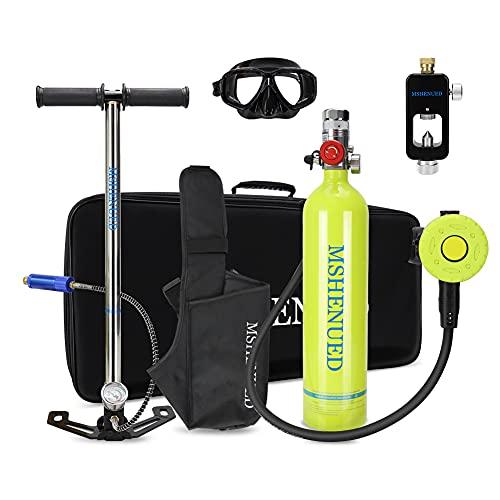 XSGDMN Cilindro portátil de Equipos de Buceo, Mini Tanque de oxígeno de Buceo de 1L con Capacidad de 15-20 Minutos, Tanque de oxígeno para el Buceo Submarino.