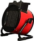 Calentador de espacio con ventilador - Calentador de espacio redondo portátil con 3 configuraciones de calor, control de termostato ajustable y protección contra sobrecalentamiento - Para uso en alma