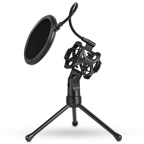 ZREAL 1098/5000Soporte para trípode para micrófono con Soporte para micrófono A Techo de Mesa para micrófono para Podcast