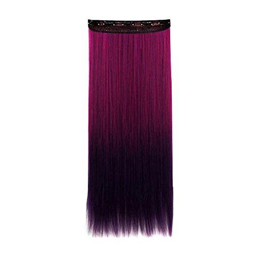 Contever® Droite 3/4 pleine Tête Extensions de Cheveux Perruques Synthétiques Clip Sur / Dans Postiches 5 Clips Beauty Hair Salon pour la mode 60 CM Longueur Des Femmes - Style 4
