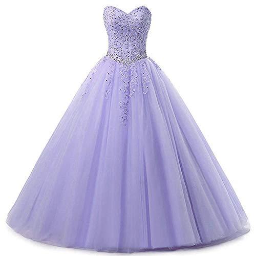Preisvergleich Produktbild Zorayi Damen Liebsten Lang Tüll Formellen Abendkleid Ballkleid Festkleider Lavendel Größe 50