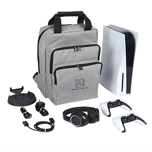 Pierre Vedette PS5 Case Travel Bag - Premium Playstation 5 Travel Case Backpack for Playstation 4 / PS5 Carry Case