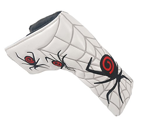 mamimamih Golf Putter Head Cover Spider Design for All Brands Blade (White)